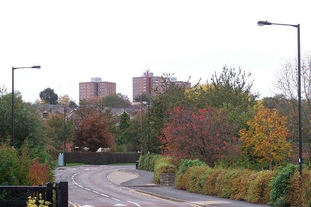 Autumn Colours in Wood Lane, Malin Bridge, Sheffield
