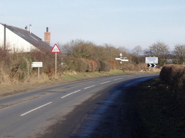 Road junction at Langwath near Moorhouse