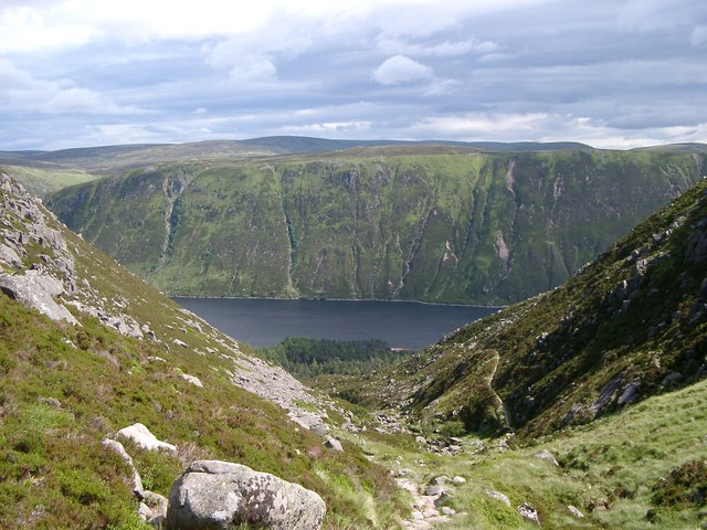 Looking down to Loch Muick
