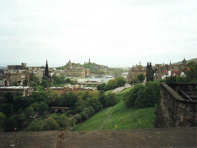 View NE from Edinburgh Castle