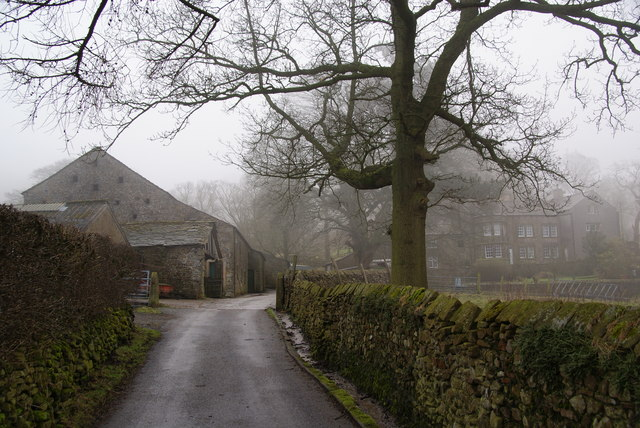 Farm buildings at Little Mearley Hall