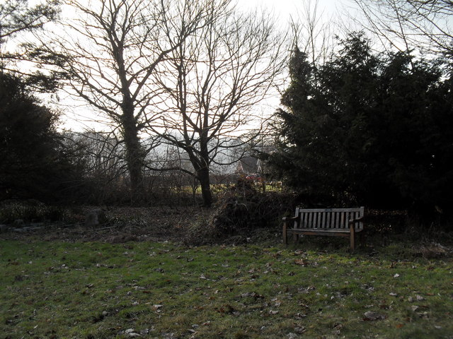 "Seat in the ""new churchyard"" at Treyford"