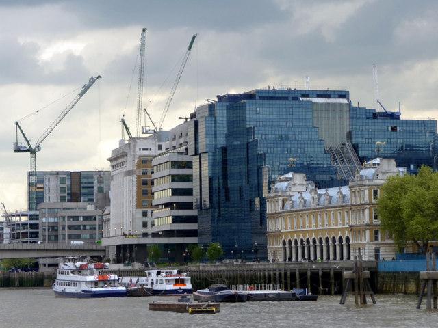 North bank of The Thames near London Bridge