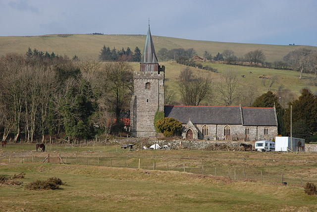 Llangurig church from the south