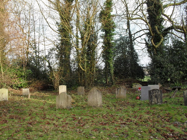 "Graves ancient and modern at the ""new"" churchyard in Treyford"