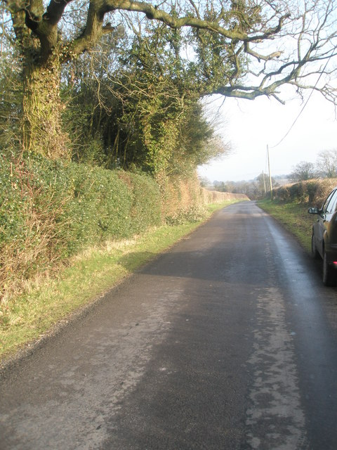 """Lane outside the former """"Cathedral of the Downs""""- looking east"""