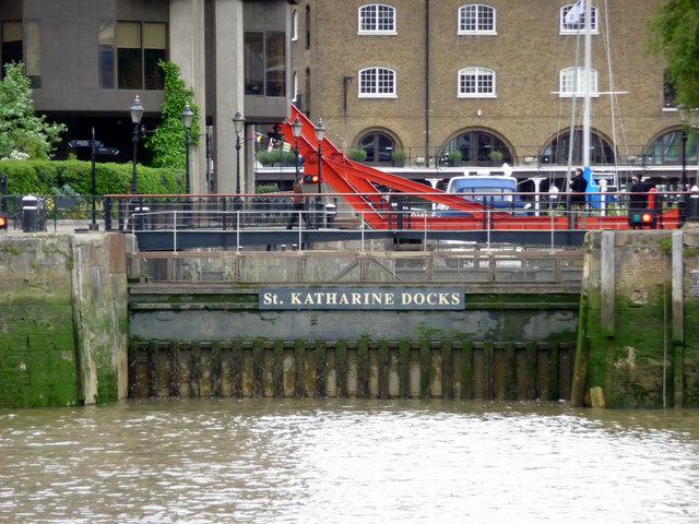 Entrance to St Katharine Docks, London