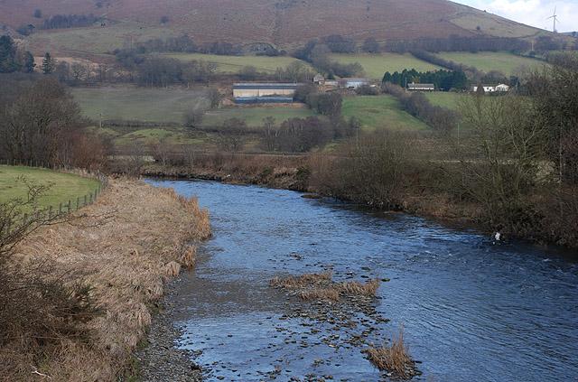 Afon Gwy / River Wye at Dernol