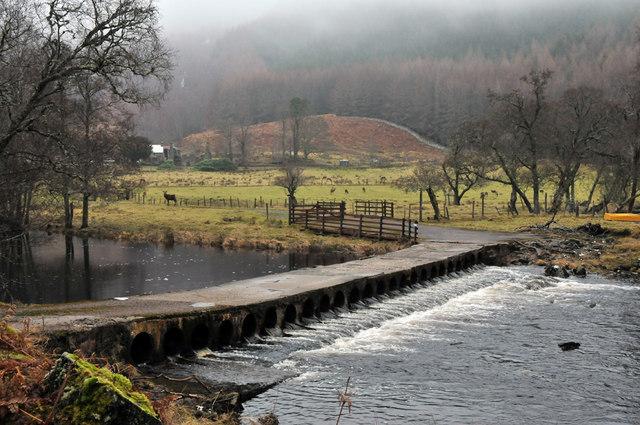 Irish bridge over the river Cannich