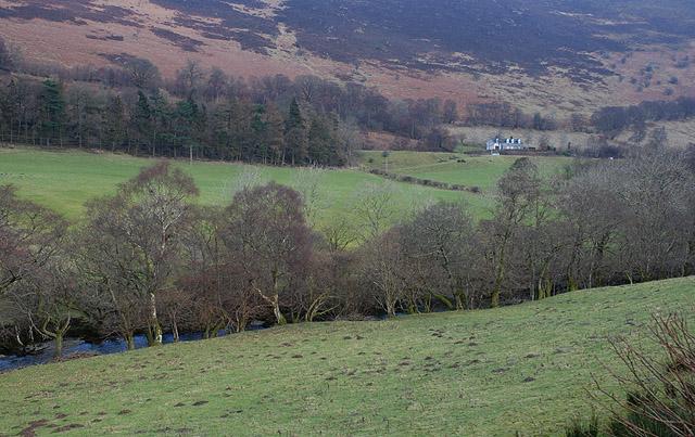 The Wye valley at Dolhelfa