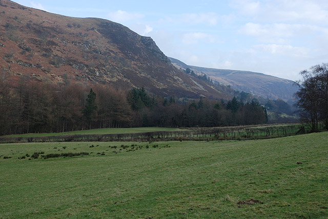 The Wye valley below Garreg Lwyd