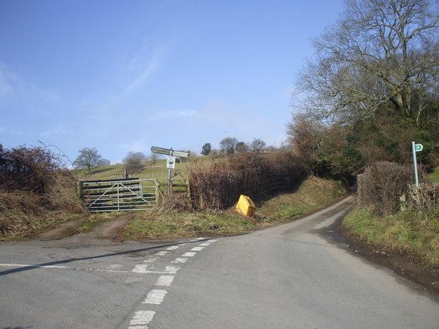 Road junction near Talgarth