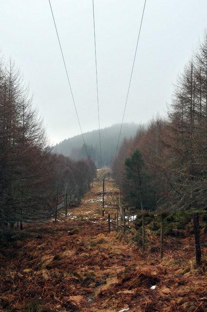 Telegraph lines in Glen Cannich