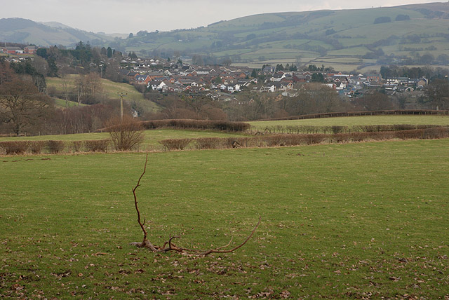View towards Rhayader