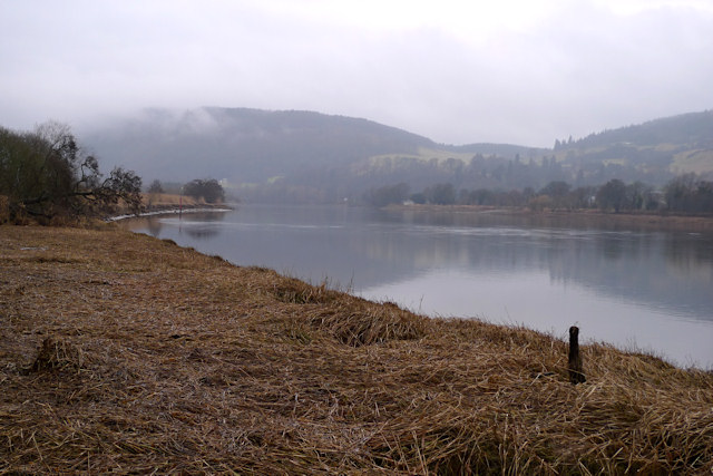 South bank of the Tay, near Elcho