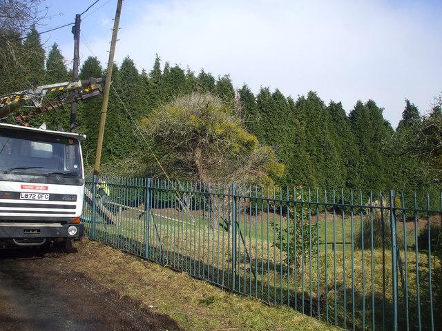 Replacing a telegraph pole