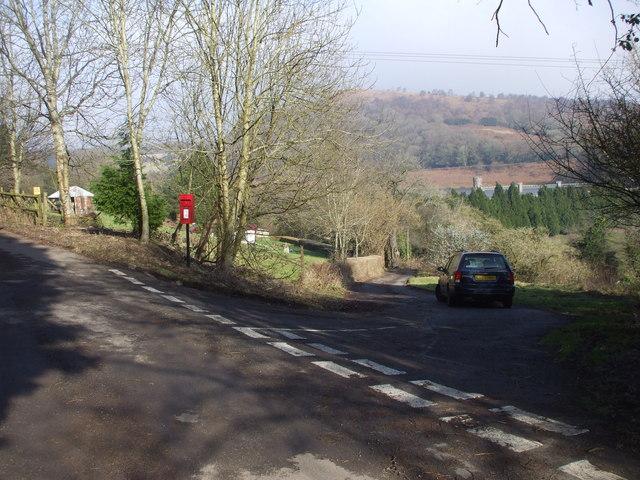 Road junction above Wentwood Reservoir