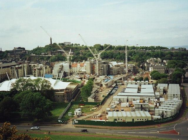 Scottish Parliament under construction (2003)