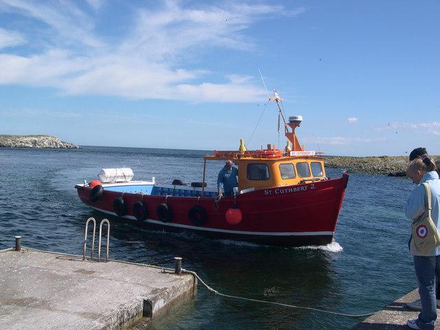 Farne Island Ferry arriving at Inner Farne