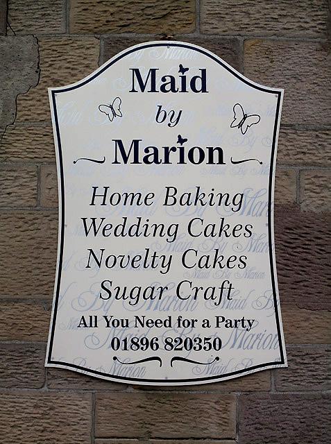 A shop sign in Melrose