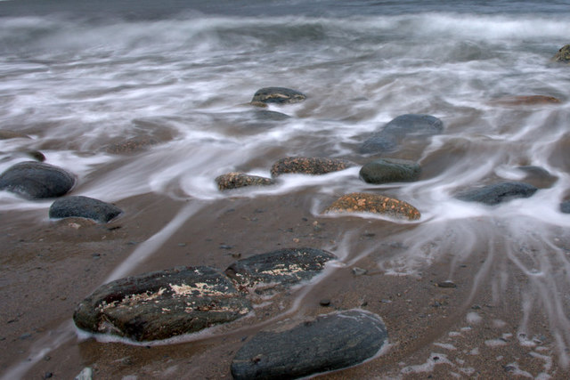 Boulders on Norwick beach