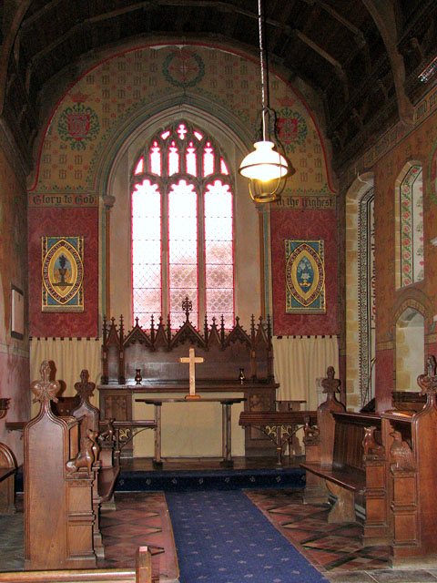 St Michael's church - the painted chancel
