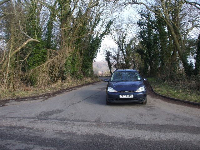 Road junction near Llanvair-discoed