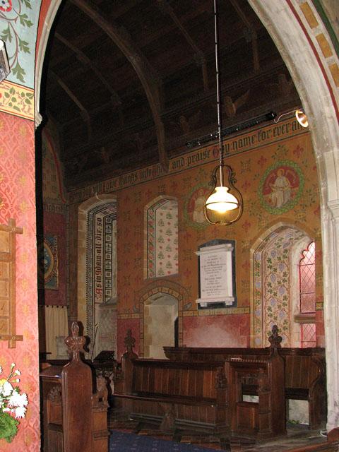 St Michael's church - stencilled decoration