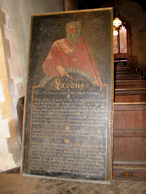 St Michael's church - Decalogue board