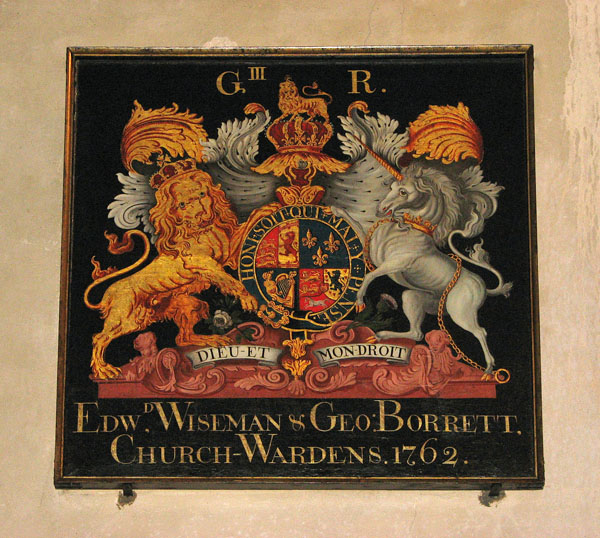 St Michael's church - George III royal arms