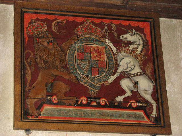 St Michael's church - Charles I royal arms