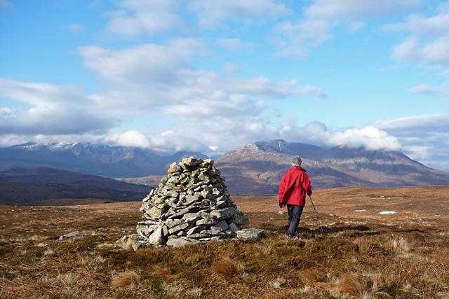 The cairn on Beinn nan Carn