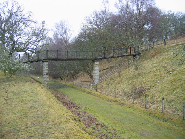 Footbridge over Disused Railway (Border Counties Railway)