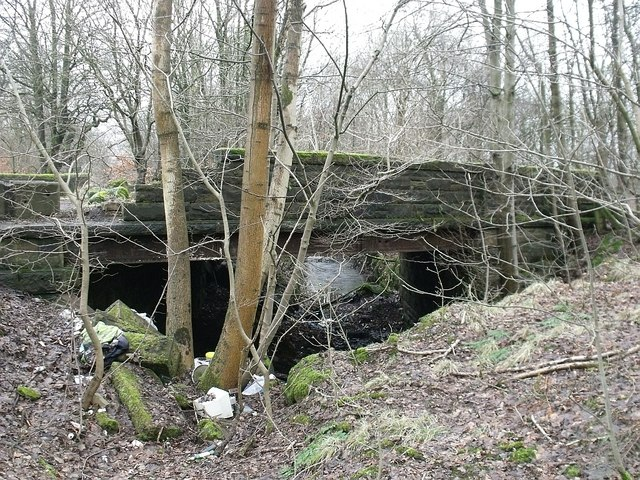 Old bridge on old line of road, Kilsyth