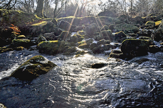 Sunlight on the River Meavy - Dartmoor