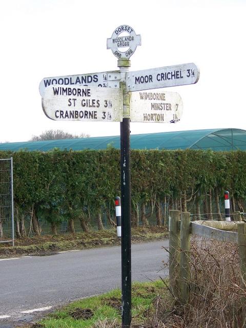Finger post, Woodlands Cross