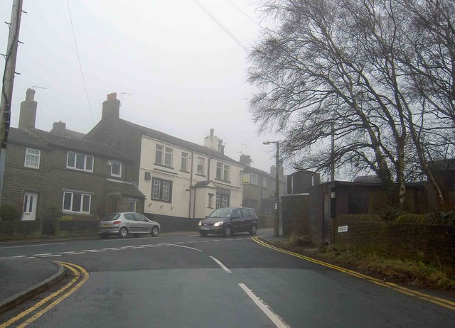 The Station hotel from Station Road, Wilsden