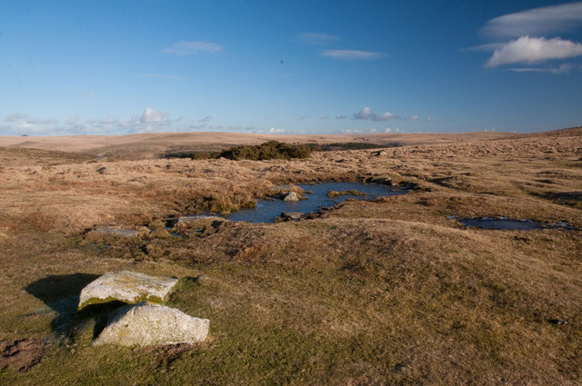 The northeast flank of Sharpitor - Dartmoor