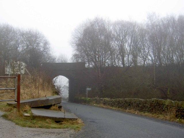 Low bridge over Whalley Lane near Denholme