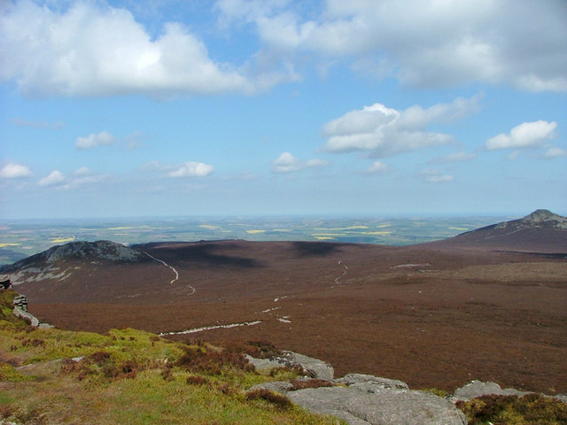 View from Oxen Craig to the other tops of Bennachie