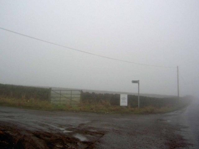 Misty footpath from Allerton Road