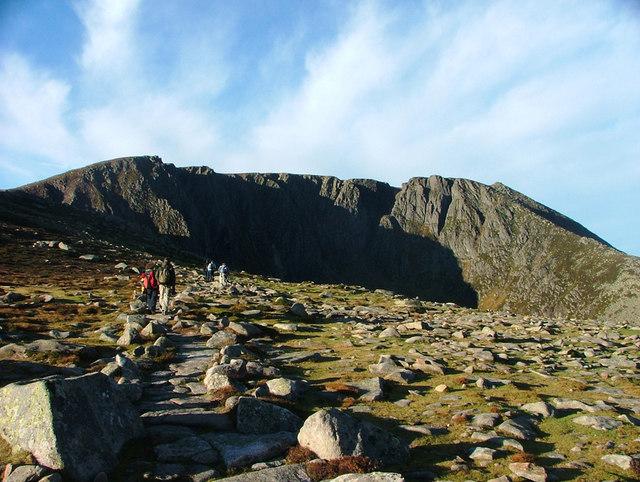 Path up Lochnagar