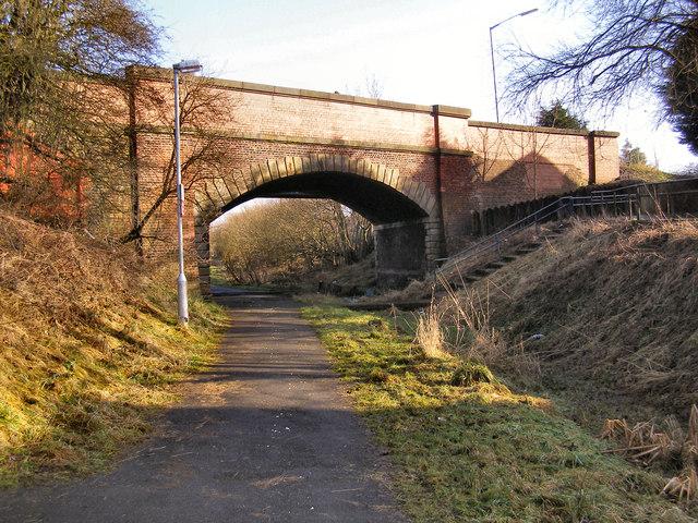 Bridge over disused railway at Bradley Fold Road