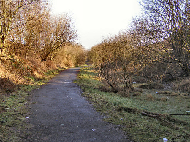 Disused railway at Bradley Fold