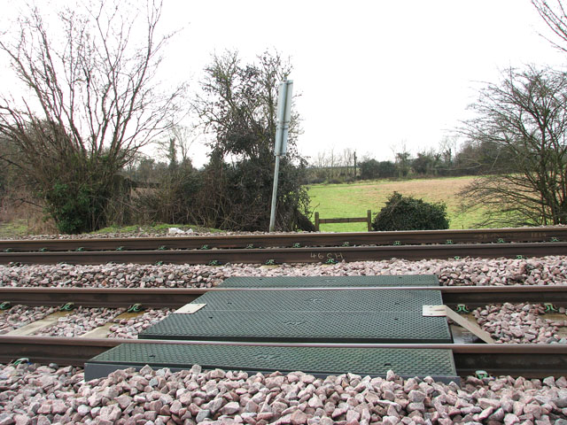 Footpath crosses railway line