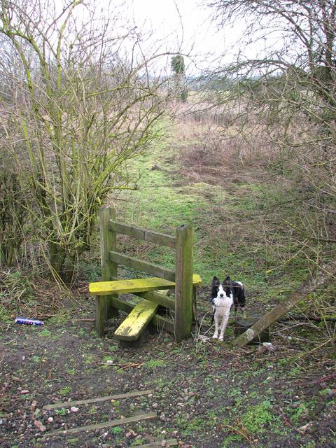 Stile beside the railway line