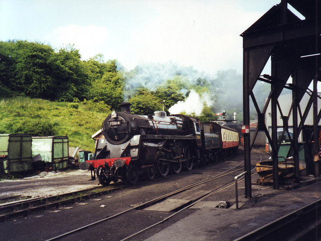 75014 leaving Grosmont tunnel