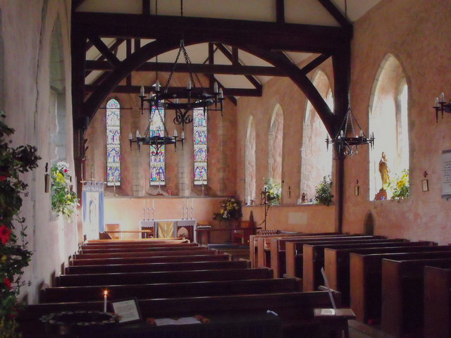 Interior of St. Mary's, Barnham, West Sussex