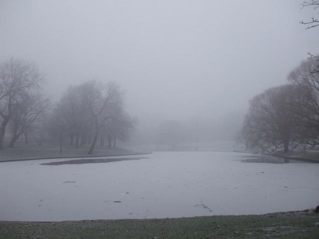 The lake, Greenbank Park, Liverpool