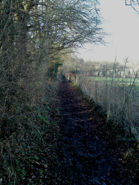 Muddy conditions makes heavy going along the Kings Way path